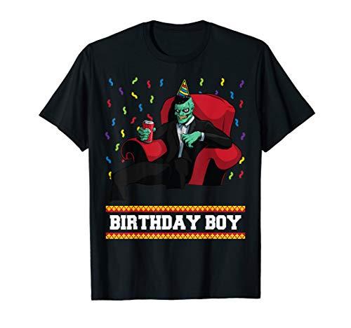 Zombie Villain Birthday Boy Funny Halloween Kids Boys Bday T-Shirt