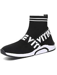 Zapatos para Fitness para Unisex-niños Zapatos Deportivos de los Planos atléticas Ocasionales de la Malla Respirable Sport
