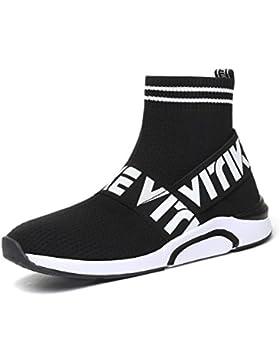Zapatos para Fitness para Unisex-Niños Zapatos Deportivos de los Planos atléticas Ocasionales de la Malla Respirable...