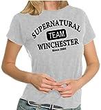 Team Winchester LADIES T-Shirt Sportsgrey, XL