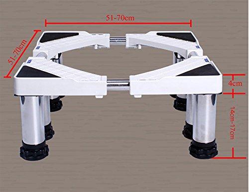 ZXLDP Waschmaschine Einstellbarer Trolley Waschmaschine Kühlschrank Base Universal Appliance Base Liftable Waschmaschine Bodenschalen ( größe : 8 legs ) (Herd Belüftung)