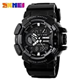 Skmei Analog-Digital Black Dial Men's Watch-1117-Grey-01