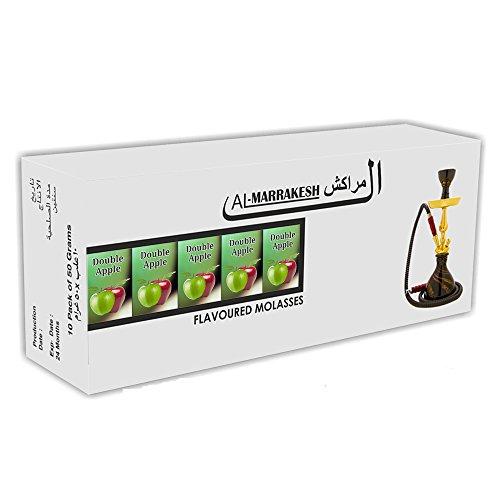 DOUBLE APPLE HOOKAH AL-MARRAKESH FLAVOR 10 PACKS OF 50 GRAMS