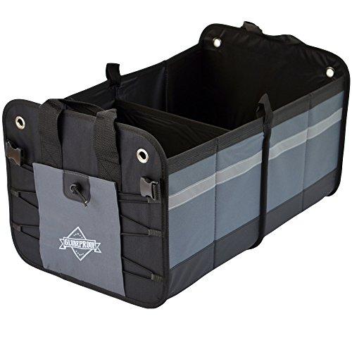 Preisvergleich Produktbild Kofferraumtasche | PKW-Klappbox ideal als Faltbox-Einkaufskorb & Kofferraum-Organizer fürs Auto | XXL & ultrastark in verschiedenen Farben mit 50 Liter Volumen (32x38x60cm) – von GLOBEPROOF®