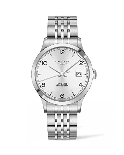 Longines Record Stainless Steel Sunray Silver Stainless Steel Strap