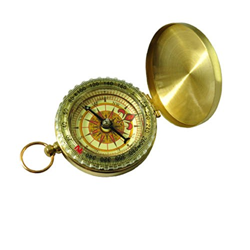 Ardisle Pocket Traditional Design Brass Metal Pocket Watch Classic Compass Camping Luminous