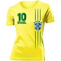 BRASILIEN FANSHIRT - Damen T-Shirt Gr.S bis XXL - Golebros