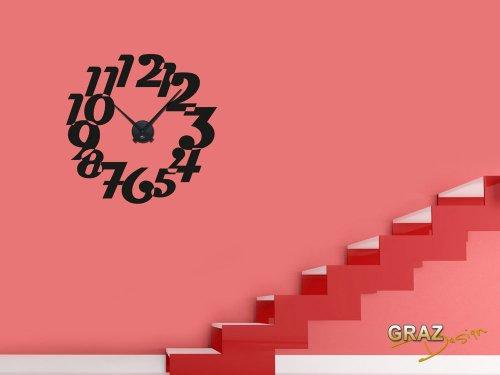 Vinilo de pared: Decoración de pared con reloj retro Para el salón p