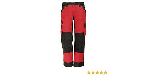 FHB Arbeitshose Bundhose FLORIAN 125100 3320 rot schwarz