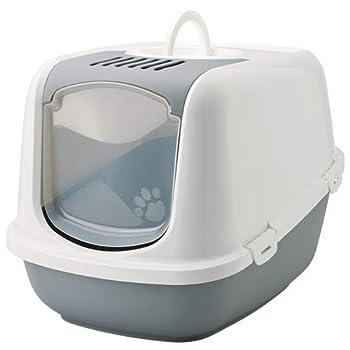 Savic Nestor Jumbo Maison de Toilette pour Chat Gris/Blanc 66x48x46 cm