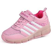 Meurry Super Light Niño Chica Niños Roller Zapatos Patines LED Luminoso Rueda Trainers Monopatín Sneaker Único Ronda Zapatos Deportivos Al Aire Libre