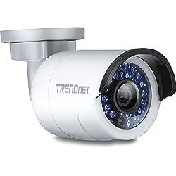 TRENDnet Indoor/Outdoor Bullet/Sift Bauart, PoE IP Kamera mit 3 Megapixel Full HD 1080p, solides IP66 zertifiziertes Gehäuse, Nachtsicht bis 30 Meter, ONVIF, IPv6, TV-IP310PI