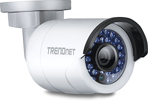 TRENDnet Indoor/Outdoor Bullet/Sift Bauart, PoE IP Kamera mit 3 Megapixel Full HD 1080p, solides IP66 zertifiziertes Gehäuse, Nachtsicht bis 30 Meter, ONVIF, IPv6, TV-IP310PI (Wireless-indoor-überwachungskameras)