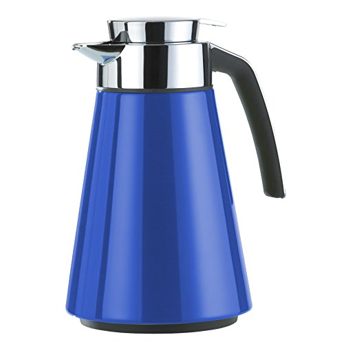 Emsa 513800 CONE Pichet isotherme, Aroma Diamond, Fermeture Quick Tip,1,0 L , laqué bleu