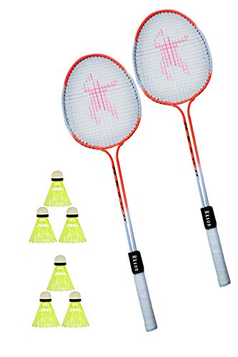 rk son Badminton Racquet Smash D/Shaft and Dual Power Rackets 2 Piece for 3 Nylon Shuttle Choice of Champion - Set of 2