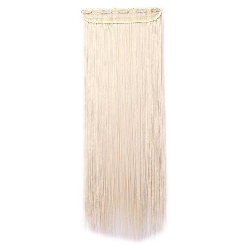 Clip in hair extension bionde capelli fascia unica 5 fermagli capelli lunghi lisci 65cm one piece 3/4 full head larga 25cm vari colori
