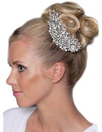 Kristall Jewel Diamante Haar-Kamm - 3101SNHC