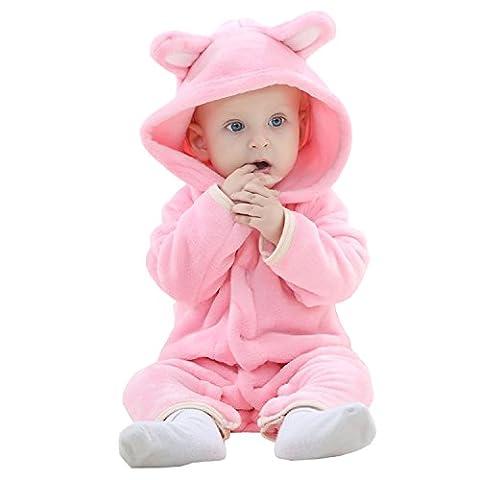 BabyPreg Unisex Baby-Bär-Kostüm-Spielanzug-Tier-Partei Cosplay Outfit 0-24 Monate (90cm / 12-18 Monate, (Bären-kostüm Für Baby)