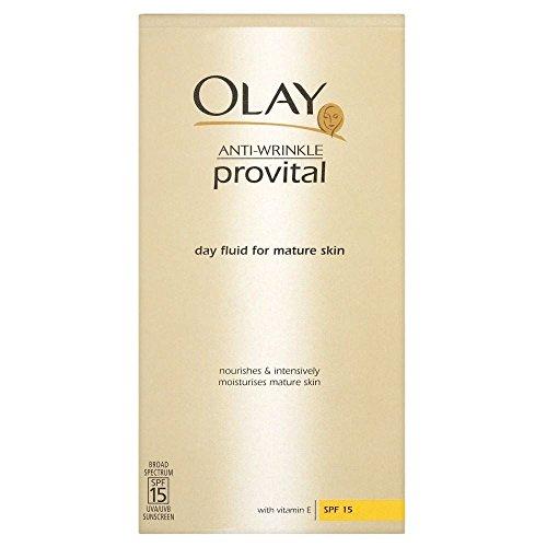 Jour Rides Anti Olay Provital de SPF15 Fluide pour les peaux matures (100 ml) - Paquet de 6