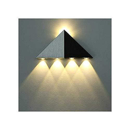 Lightess Apliques Pared Pirámide Triangular Lámpara