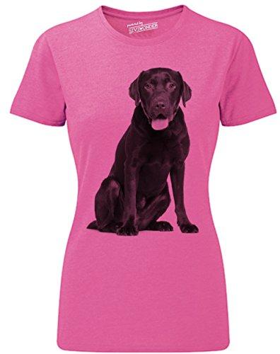 Siviwonder Women T-Shirt Labrador Schoko Labby Hunde pink marl