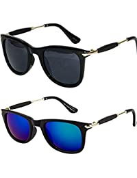 9963122dab4 Y S Golden Stick Wayfarer Rubber Temple Stylish Branded Goggles Sunglasses  for Men s and Women s(
