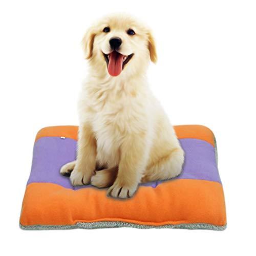 hahuha Toy  Komfortable Plüsch Zwinger Hunde Haustierstreu Tiefschlaf PV Katzenstreu Schlafbetten (Orange, XXXL) -