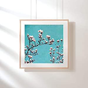 Fotografie Print Kunstdruck 12x12cm Magnolie Frühling Quadrat