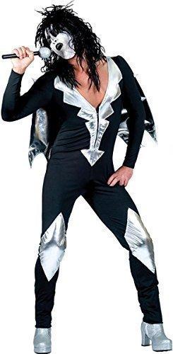 Erwachsene Halloween Klassischer Disco Verkleidung Kostümparty Stylisch Herren Glam Rock Kostüm - Multi, L (Rock Glam Kostüm)
