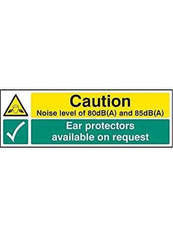 Nouvelle-Calédonie Signes 25223M Niveau sonore 80dB (A) et 85dB (A) Protecteurs d'oreille disponibles sur demande, signe autocollant en vinyle, 600mm x 200mm