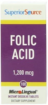 Superior Source - Folic Acid Instant Dissolve 1200 mcg. from Superior Source