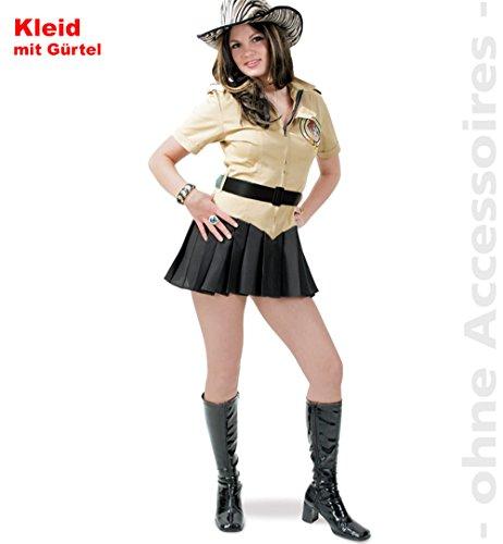 Dschungelgirl Damen Kleid mit Gürtel Gr 38