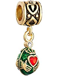 Mejor amigo Claddagh encanto venta barato de música, diseño de huevo de fabergé Love Beads Fit Pandora joyas colgantes pulsera regalos