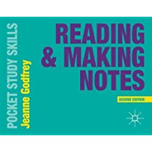 Reading and Making Notes (Pocket Study Skills)