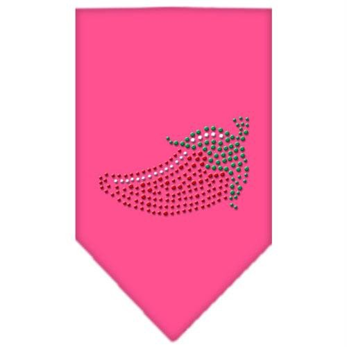 Mirage Pet Products Chili Pepper Strass Bandana, klein, hell rosa -