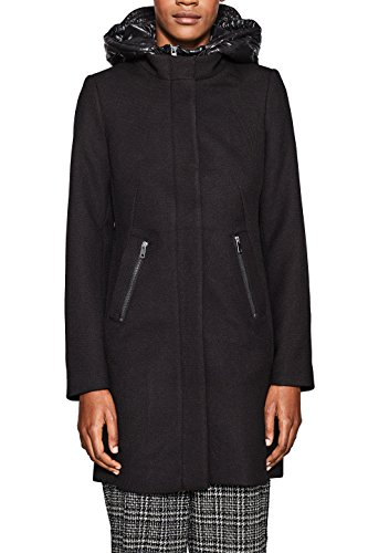 ESPRIT Collection Damen Jacke 127EO1G008, Schwarz (Black 001), X-Small
