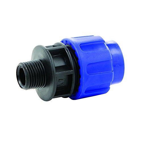 PE Rohr Verschraubung Kupplung 20 mm x 1/2 Außengewinde DVGW