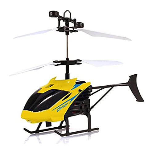 Flying toys,1PC Mini RC Infraed Induction Helicopter Aircraft Flashing Light Toys For Kid (yellow)