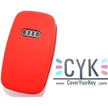 Llave funda silicona rojo de Finest de Folia GmbH Audi A A38L1B5B6A4C5A8TT 8N3Allroad Key