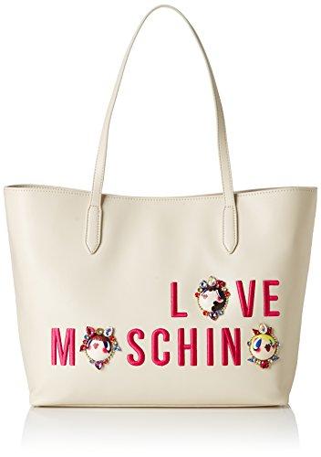 Love Moschino Moschino - Borse Tote Donna, Elfenbein (Ivory), 13x28x46 cm (B x H T)