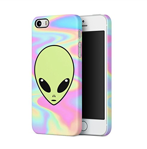 Alien Emoji Space Tye Dye Pastel Soap Film Trippy Tumblr Apple iPhone 5 / iPhone 5S / iPhone SE SnapOn Hard Plastic Phone Protective Fall Handyhülle Case Cover