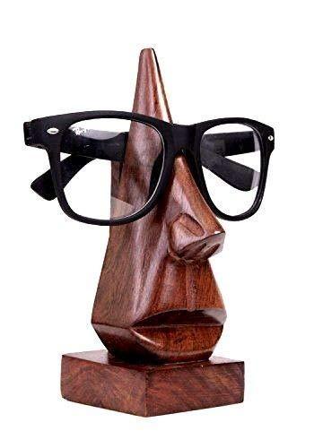 WhopperOnline Handgefertigt Classic Nase Form Holz Schlüsselanhängerform Display Ständer, Brillenhalter, Eyewear Retainer, Spec Halter, Sunglases Halter Brillenhalter Desktop Zubehör