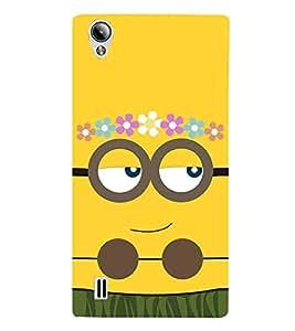 For vivo Y15S :: Vivo Y15 yellow cartoon ( yellow cartoon, cartoon, flower, smile ) Printed Designer Back Case Cover By CHAPLOOS