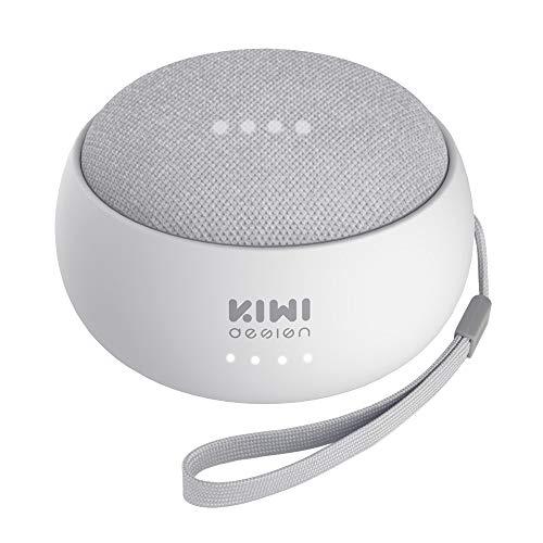 KIWI design Akku Battery Kompatibel mit Home Mini von Google, Ladegerät Halterung Halter Zubehör 7800mAh Kompatibel mit Home Mini von Google,Google Home Mini ist Nicht enthalten, Licht Steingrau