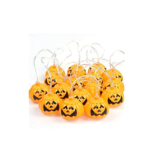 ZUEN Halloween Kürbis Lichter Kinder DIY Laternen Glow String Arrangement Requisiten für Holiday Party Garden Decoration,6meters40lights