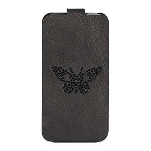 ZADIG & VOLTAIRE - Etui coque Zadig & Voltaire noir motif strass papillon pour iPhone 5 / 5S