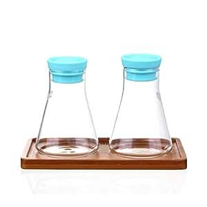 casella di condimento cucina creativa Ampolle di vetro Con ampolline di pallet ampolline della famiglia di tre-A