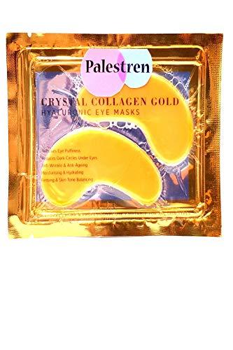 Palestren Kollagen-Augenmasken, 10Paar Kristall-Gold Anti-Falten, Anti-Aging, Augenringe-Gel-Patch, Feuchtigkeitsspender