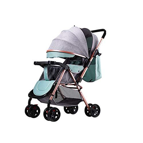 BabyCarriage Faltbarer Kinderwagen von Geburt an bis 25 kg, Leichtgewicht mit Liegeposition Zwei Getränkehalter, Einhandfaltung