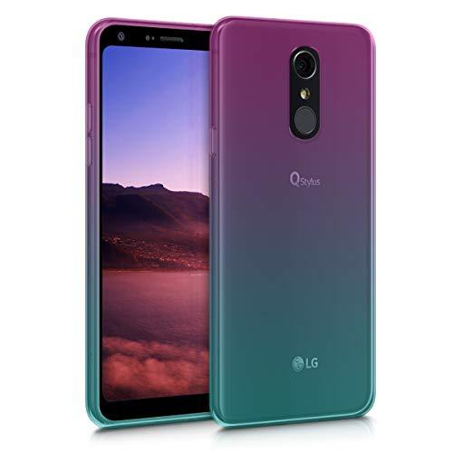 kwmobile LG Q7 / Q7+ / Q7a (Alpha) Hülle - Handyhülle für LG Q7 / Q7+ / Q7a (Alpha) - Handy Case in Zwei Farben Design Pink Blau Transparent